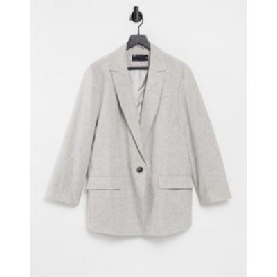 エイソス レディース ジャケット・ブルゾン アウター ASOS DESIGN slubby linen jacket in brown Brown
