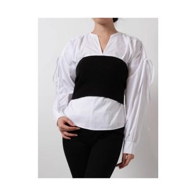 MURUA ビスチェドッキングドロストシャツ ホワイト