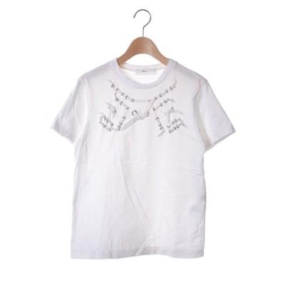 TOGA PULLA リボンディティール Tシャツ 36 ホワイト トーガ