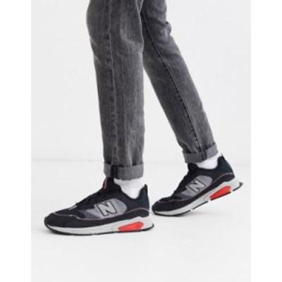ニューバランス メンズ スニーカー シューズ New Balance X Racer sneakers in black Black
