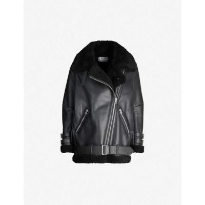 アクネ ストゥディオズ ACNE STUDIOS レディース レザージャケット アウター Velocite leather jacket BLACK/BLACK
