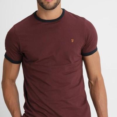 ファーラー メンズ ファッション GROVES - Basic T-shirt - bordeaux