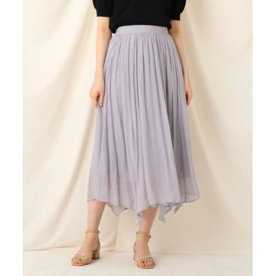 Couture Brooch/クチュールブローチ プラチナシフォンスカート サックス(090) 38(M)