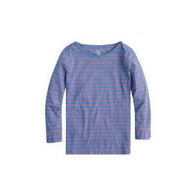 J.Crew レディース 女性用 ファッション Tシャツ Boatneck Painter T-Shirt in Stripe - Blue Papaya Saybrook Stripe