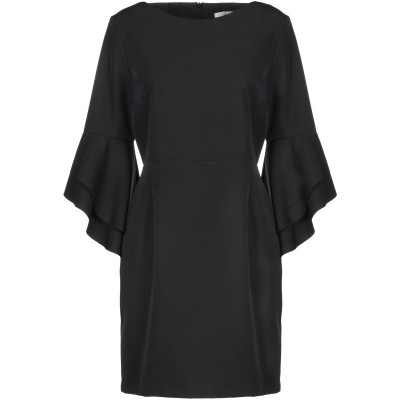 PEPEROSA ミニワンピース&ドレス ブラック 46 ポリエステル 90% / ポリウレタン 10% ミニワンピース&ドレス