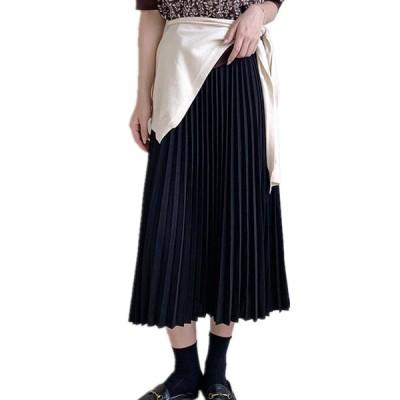 スカート プリーツスカート 暖かい ロング丈 暖かい レディース