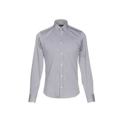 マニュエル リッツ MANUEL RITZ シャツ グレー 38 コットン 76% / ナイロン 20% / ポリウレタン 4% シャツ