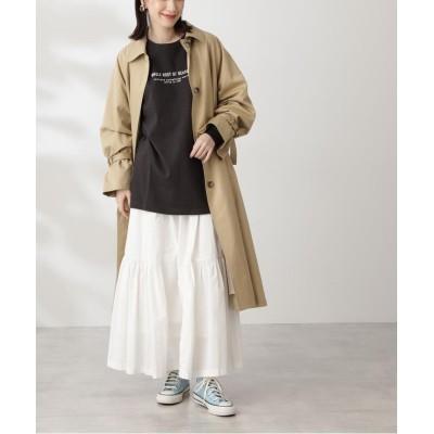 【エヌナチュラルビューティベーシック】 コットンギャザーマキシスカート レディース オフ M N.Natural Beauty Basic
