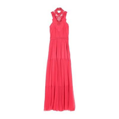 ジェニー GENNY ロングワンピース&ドレス レッド 40 アセテート 81% / シルク 19% ロングワンピース&ドレス