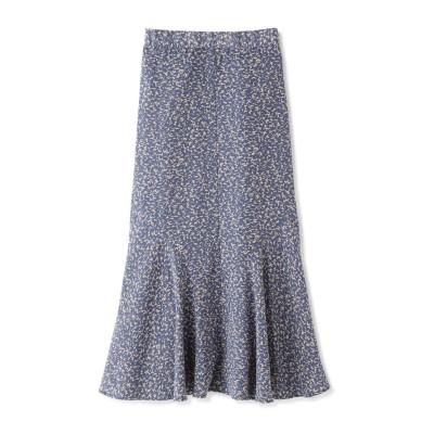 アートプリントペプラムAラインスカート