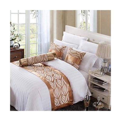 OSVINO ベッドアクセサリー ベッドライナー アクセサリー ベッドスロー インテリア 北欧 高級感 上質 ジャガード織り 汚れ防止 シングル180