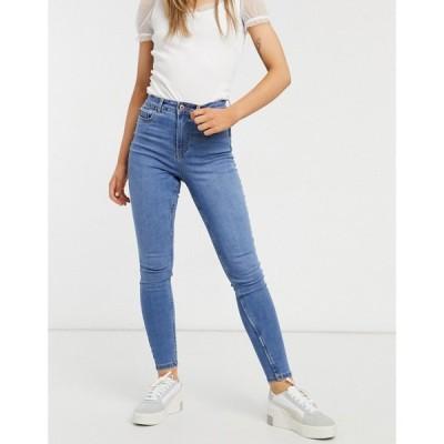 ニュールック New Look レディース ジーンズ・デニム ボトムス・パンツ Lift And Shape Skinny Jeans In Mid Blue ブルー