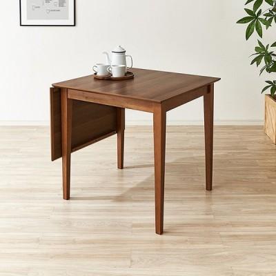 ダイニングテーブル 伸縮 伸長 伸長式 ダイニングセット 幅75/120cm 木製 天然木 2人掛け 4人掛け 4人用 2人用 無垢 送料無料