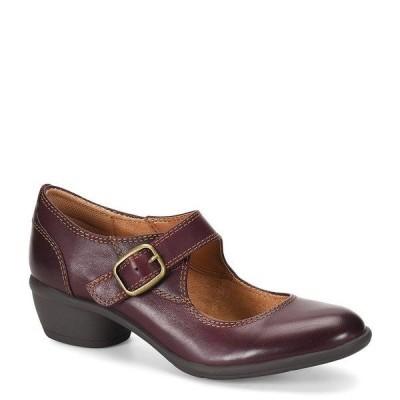 コンフォーティバ レディース パンプス シューズ Quanita Leather Block Heel Platform Mary-Jane Burgundy