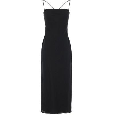 BEC & BRIDGE 7分丈ワンピース・ドレス ブラック 8 麻 100% 7分丈ワンピース・ドレス