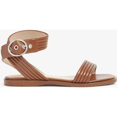 クローディ ピエルロ CLAUDIE PIERLOT レディース サンダル・ミュール オープントゥ シューズ・靴 Abaccae open-toe leather sandals CARAMEL
