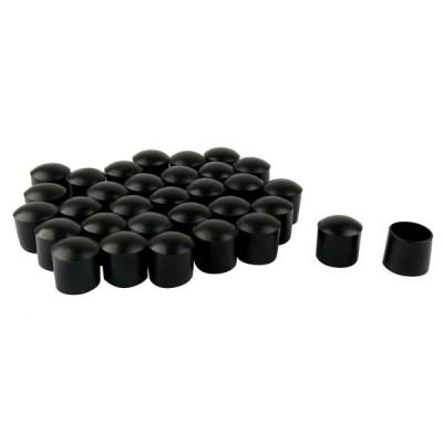 uxcell 家具保護パッド 家具プロテクター PVC レッグキャップ 先端カップ フィートカバー 内径22mm 32個入り