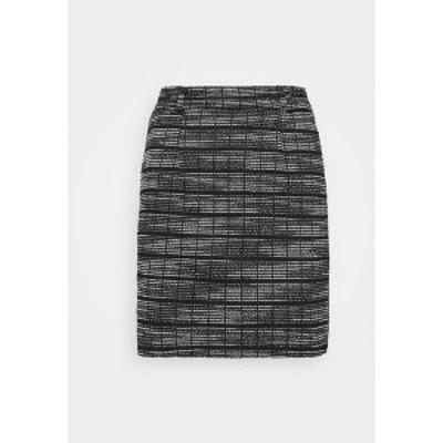 アンナフィールド レディース スカート ボトムス mini skirt with belt loop - Pencil skirt - black/white black/white