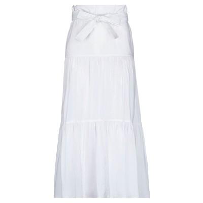 リビアナ コンティ LIVIANA CONTI ロングスカート ホワイト 38 コットン 68% / ナイロン 28% / ポリウレタン 4% ロン