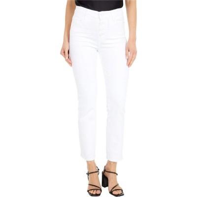 ペイジ Paige レディース ジーンズ・デニム Cindy Crop w/ Exposed Button Fly + Undone Hem in Cool White Distressed Cool White Distressed