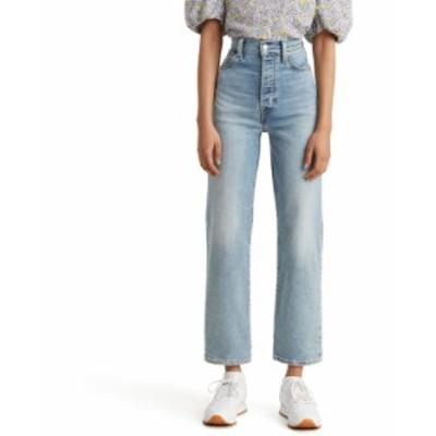 リーバイス レディース デニムパンツ ボトムス Ribcage Straight-Leg Ankle Jeans Worn Out