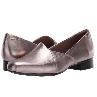 Clarks クラークス レディース 女性用 シューズ 靴 ローファー ボートシューズ Juliet Palm - Pewter Leather