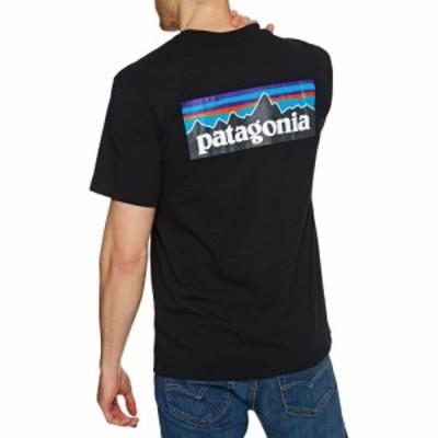 パタゴニア Patagonia メンズ Tシャツ トップス p-6 logo responsibilitee short sleeve t-shirt Black