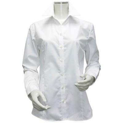 トーキョーシャツ TOKYO SHIRTS 形態安定ノーアイロン スキッパー衿 白無地ベーシック 長袖ビジネスワイシャツ (ホワイト)