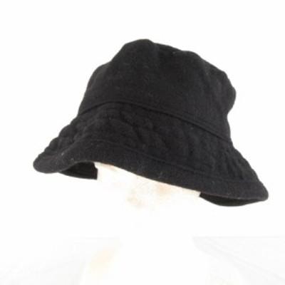 【中古】ニューヨークハット NEW YORK HAT 帽子 バケットハット 黒 L *E858 メンズ レディース
