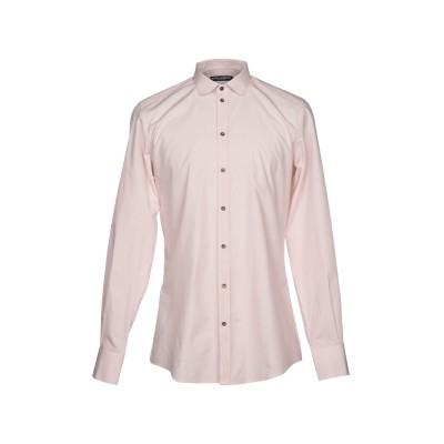 ドルチェ & ガッバーナ DOLCE & GABBANA シャツ ライトピンク 45 100% コットン シャツ
