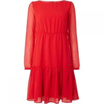 エメ Emme レディース ワンピース ワンピース・ドレス Kuens long sleeve layered shift dress Red