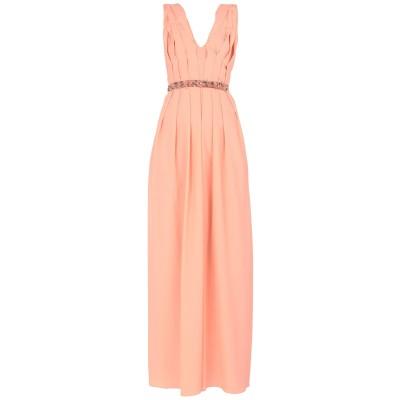 ピンコ PINKO ロングワンピース&ドレス サーモンピンク L ポリエステル 100% ロングワンピース&ドレス