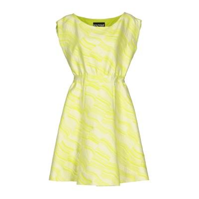 BOUTIQUE MOSCHINO ミニワンピース&ドレス ライトグリーン 40 コットン 68% / ポリエステル 22% / ナイロン 10%