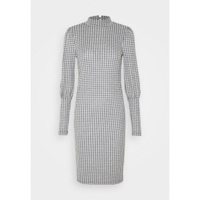 オンリー トール レディース ワンピース トップス ONLSANDY CHECK DRESS - Day dress - light grey melange light grey melange