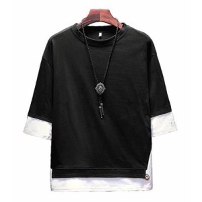 夏服 メンズ Tシャツ 半袖 カットソー メンズ ゆったり おしゃれ 薄手 涼しい カジュアル オールシーズンbnp011