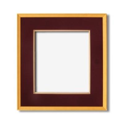 〔日本画額〕木製フレーム 和額 色紙額 色紙Fサイズ 木製日本画額色紙サイズ(273×242mm)エンジ