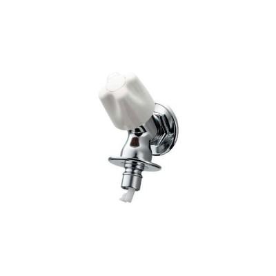 カクダイ 洗濯機用水栓 単水栓タイプ 固定コマ式 呼び13 自動閉止機構・ストッパー・送り座付 721-521-13
