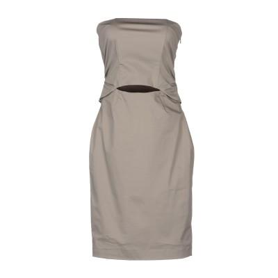 ONLY 4 STYLISH GIRLS by PATRIZIA PEPE ミニワンピース&ドレス グレー 44 コットン 97% / ポリウレタン
