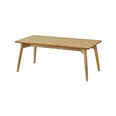 東谷(Azumaya-kk) ローテーブル センターテーブル 幅100×奥行50×高さ40cm ナチュラル カラメリ KRM-100NA