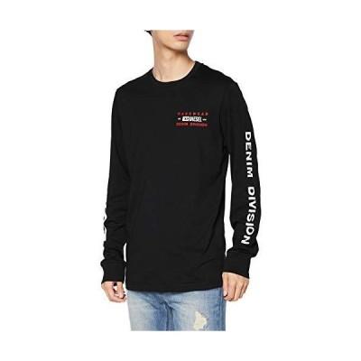 (ディーゼル) DIESEL メンズ 長そで Tシャツ グラフィック プリント A003550AAXJ S ブラック 900