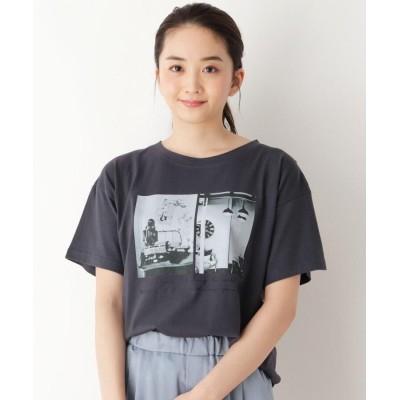 pink adobe(ピンクアドベ) 【M-L】グラフィックプリント半袖Tシャツ
