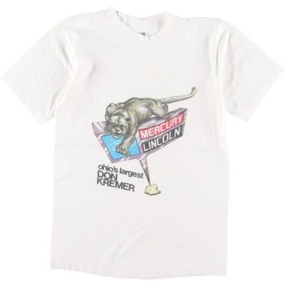 70年代 ヘインズ Hanes MERCURY LINCOLN アドバタイジングTシャツ USA製 レディースS ヴィンテージ /eaa165982
