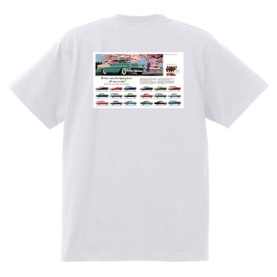 アドバタイジング シボレー ベルエア 1956 Tシャツ 074 白 アメ車 ホットロッド ローライダー広告 アドバタイズメント