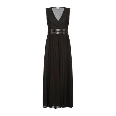 REBEL QUEEN by LIU •JO ロングワンピース&ドレス ブラック 40 ポリエステル 100% ロングワンピース&ドレス