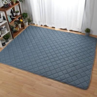 【StorePocket】 ラグ ラグマット カーペット 洗える 3畳 約180×230cm ライトブルー 厚さ約15mm 無地 キルトラグ ワッフル