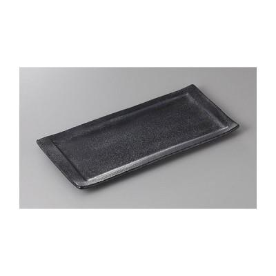 (業務用・長角皿)銀 黒角焼き物皿(大)31.5(入数:5)