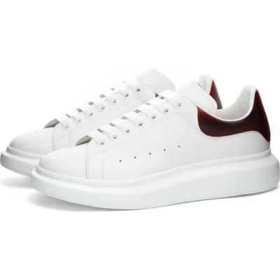 アレキサンダー マックイーン Alexander McQueen メンズ スニーカー ウェッジソール シューズ・靴 iridescent heel tab wedge sole sneaker White/Lust Red