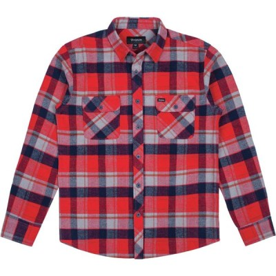 Brixton Bowery L/S Flannel Shirt Red /Heather Grey/Navy S ネルシャツ 送料無料