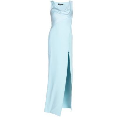 VERSACE ロングワンピース&ドレス スカイブルー 38 シルク 100% / アセテート / レーヨン ロングワンピース&ドレス
