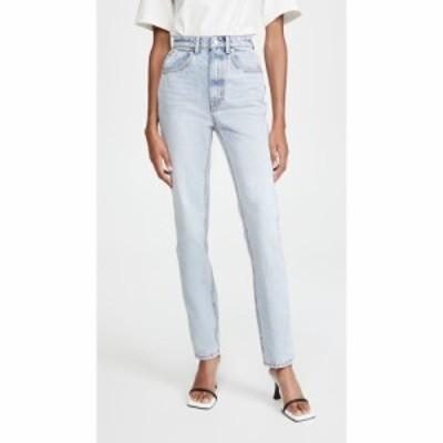 アレキサンダー ワン Denim x Alexander Wang レディース ジーンズ・デニム ボトムス・パンツ High Waist Slim Stacked Jeans Pebble Ble
